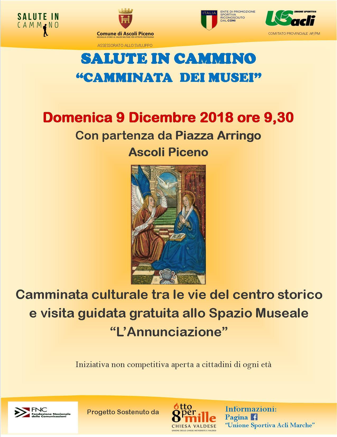 """La Regione Marche ci invita alla """"Camminata dei Musei 2018"""""""