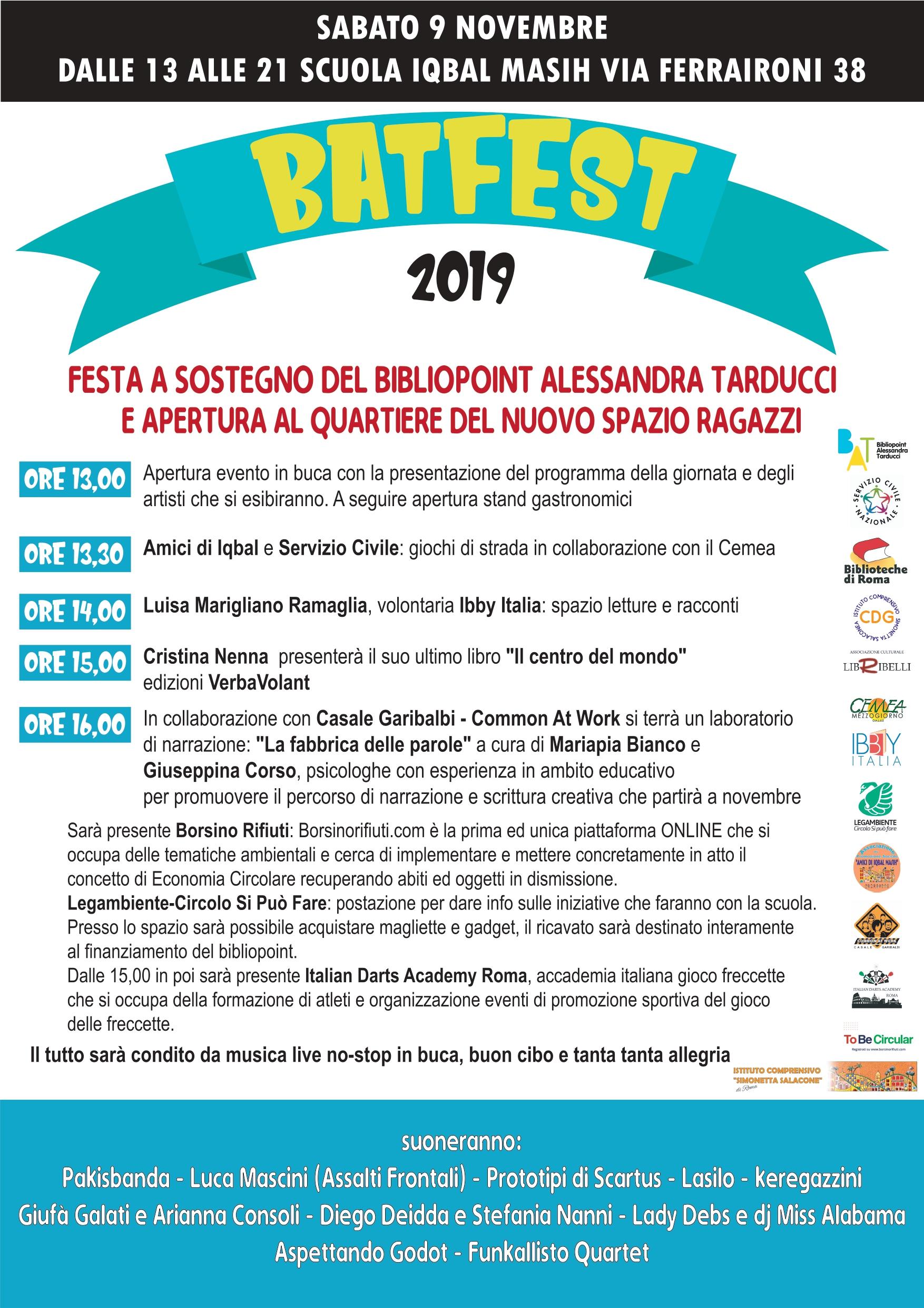 BatFest: il Bibliopoint Alessandro Tarducci inaugura un nuovo spazio per i ragazzi