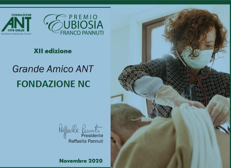Fondazione Ant: Premio Eubiosia Franco Pannuti 2020
