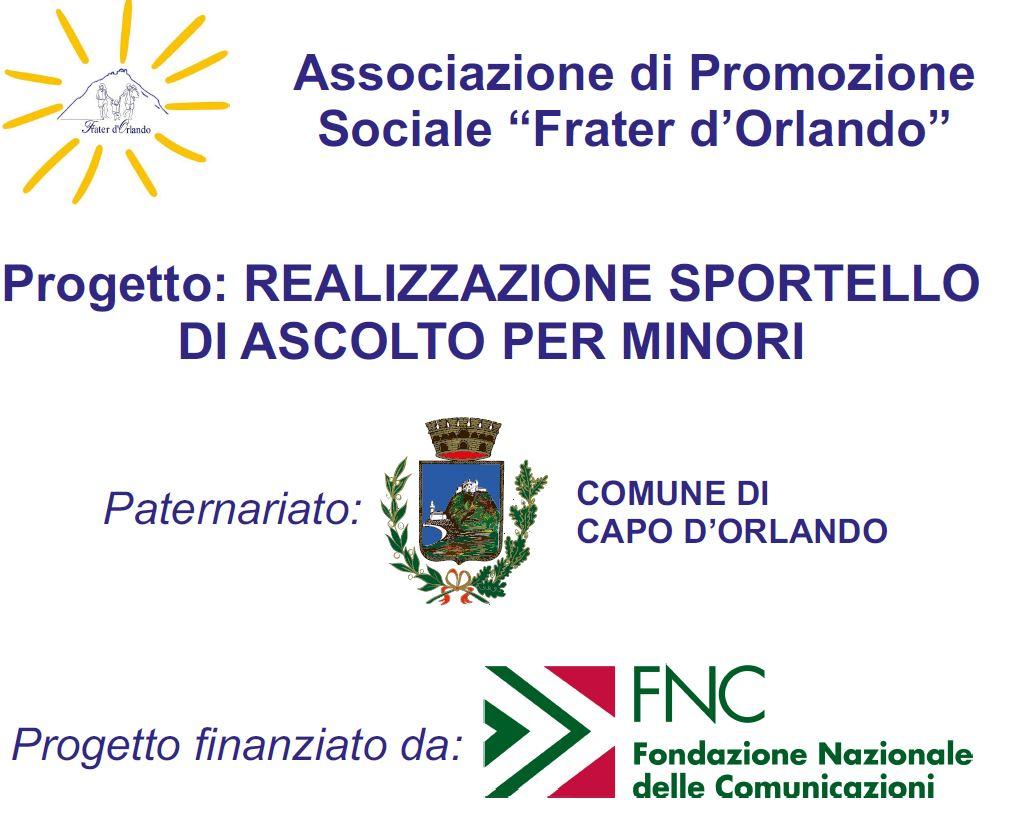 Uno Sportello di aiuto psicologico per minori: l'Associazione Frater D'Orlando a sostegno dei più fragili