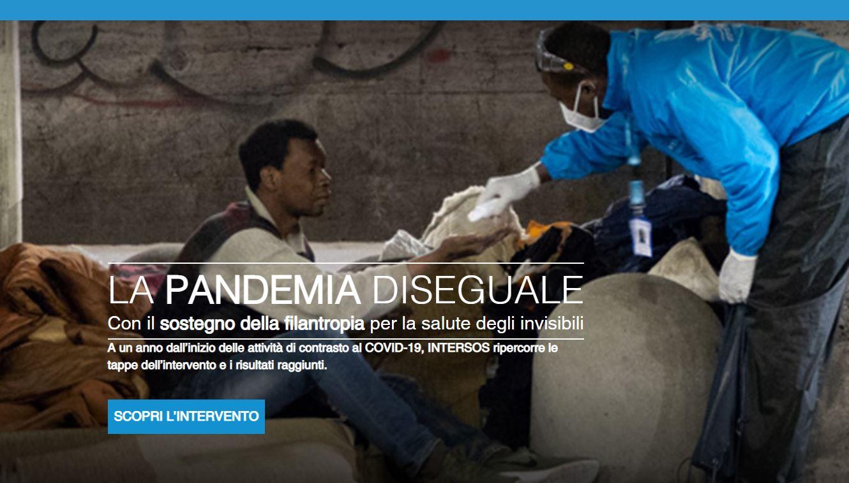 """""""La Pandemia disuguale"""": un anno di campagna Intersos a favore degli invisibili"""