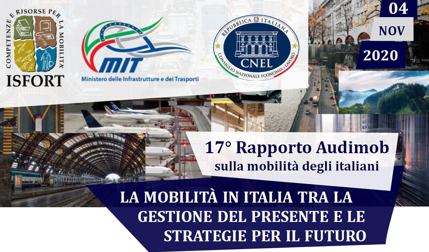 Isfort: 17° Rapporto Audimob sulla Mobilità degli Italiani
